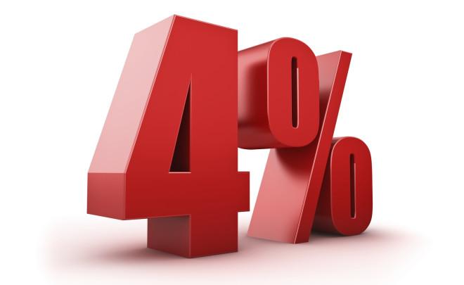 Fyra procents hopp